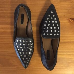 Topshop pointed studded Loafers. Size 36❤️️